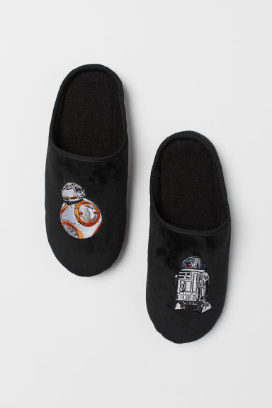 Slippers with embroidery - Black/Star Wars - Men | H&M