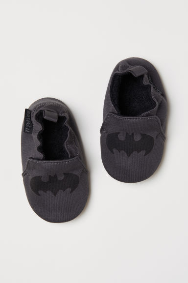 Soft bootees - Dark grey/Batman -  | H&M
