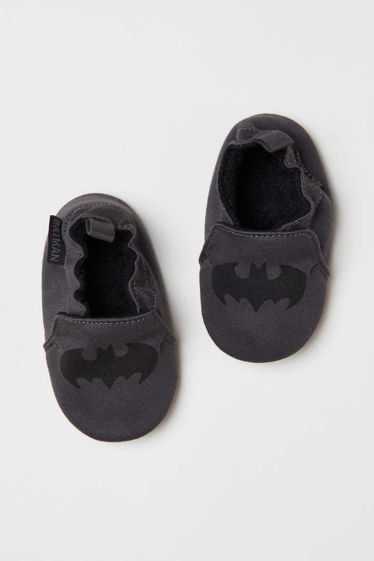 Soft slippers - Dark grey/Batman - Kids | H&M