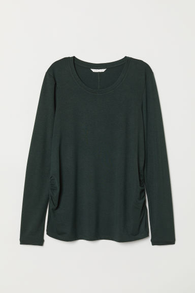 MAMA Jersey top - Dark green - Ladies | H&M CN