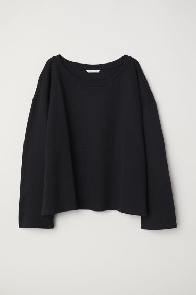 Knitted top - Black - Ladies | H&M