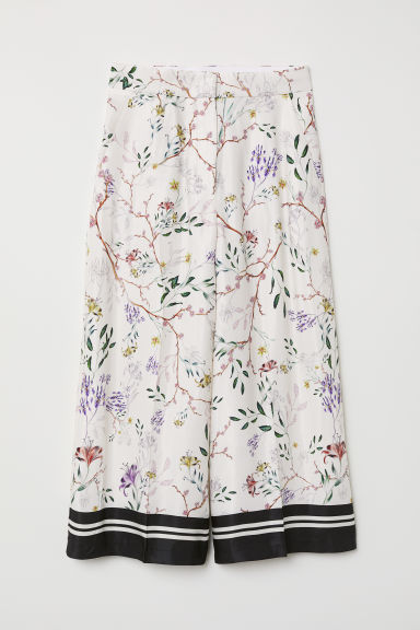 Patterned trousers - Cream/Floral - Ladies | H&M