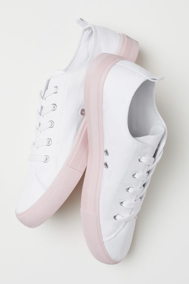 Trainers - White/Light pink - Ladies | H&M CN