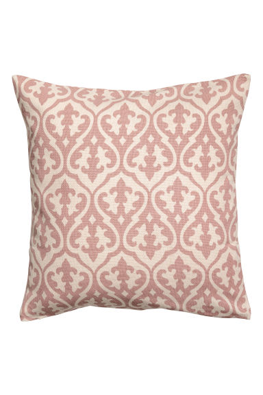 Patterned cushion cover - White/Pink patterned -  | H&M GB