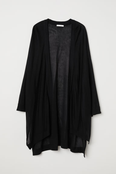 Fine-knit cardigan - Black - Ladies | H&M