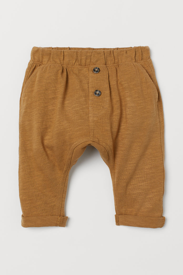 Cotton trousers - Dark beige - Kids | H&M
