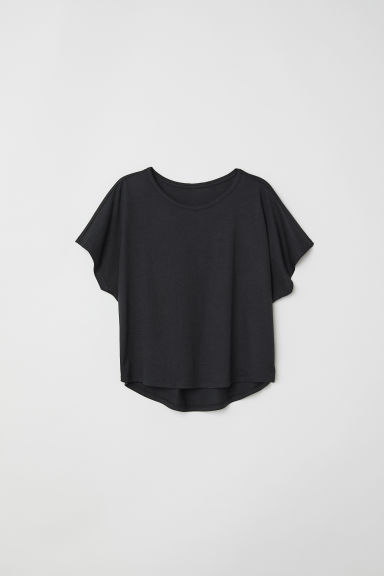 Modal-blend top - Black -  | H&M