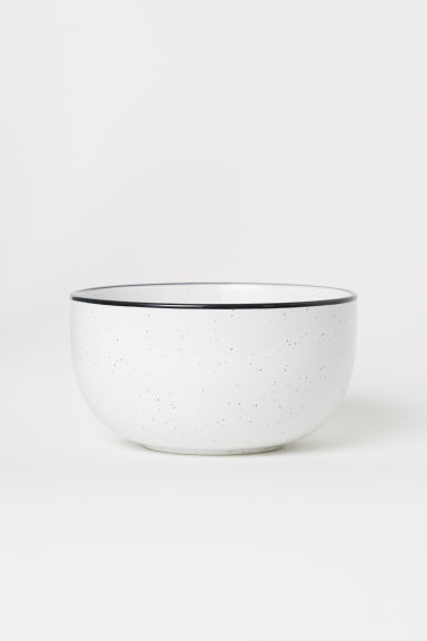 Large Stoneware Bowl - White/speckled - Home All | H&M US