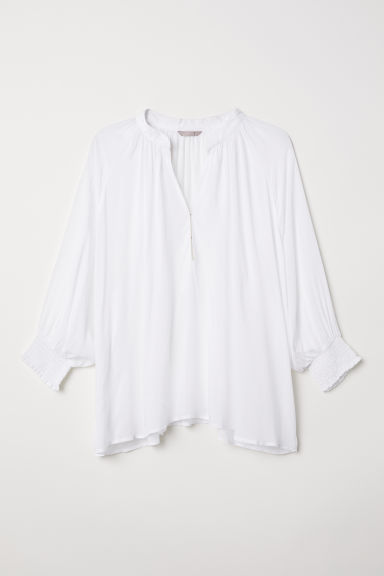 H&M+ V-neck blouse - White - Ladies | H&M
