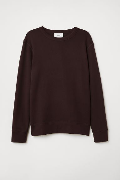 Sweater van zijdemix - Bordeauxrood gemêleerd - HEREN | H&M BE