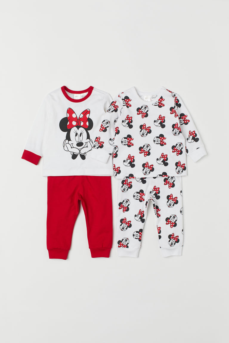 2-pack trikotpyjamas - Rød/Minnie Mus - BARN | H&M NO