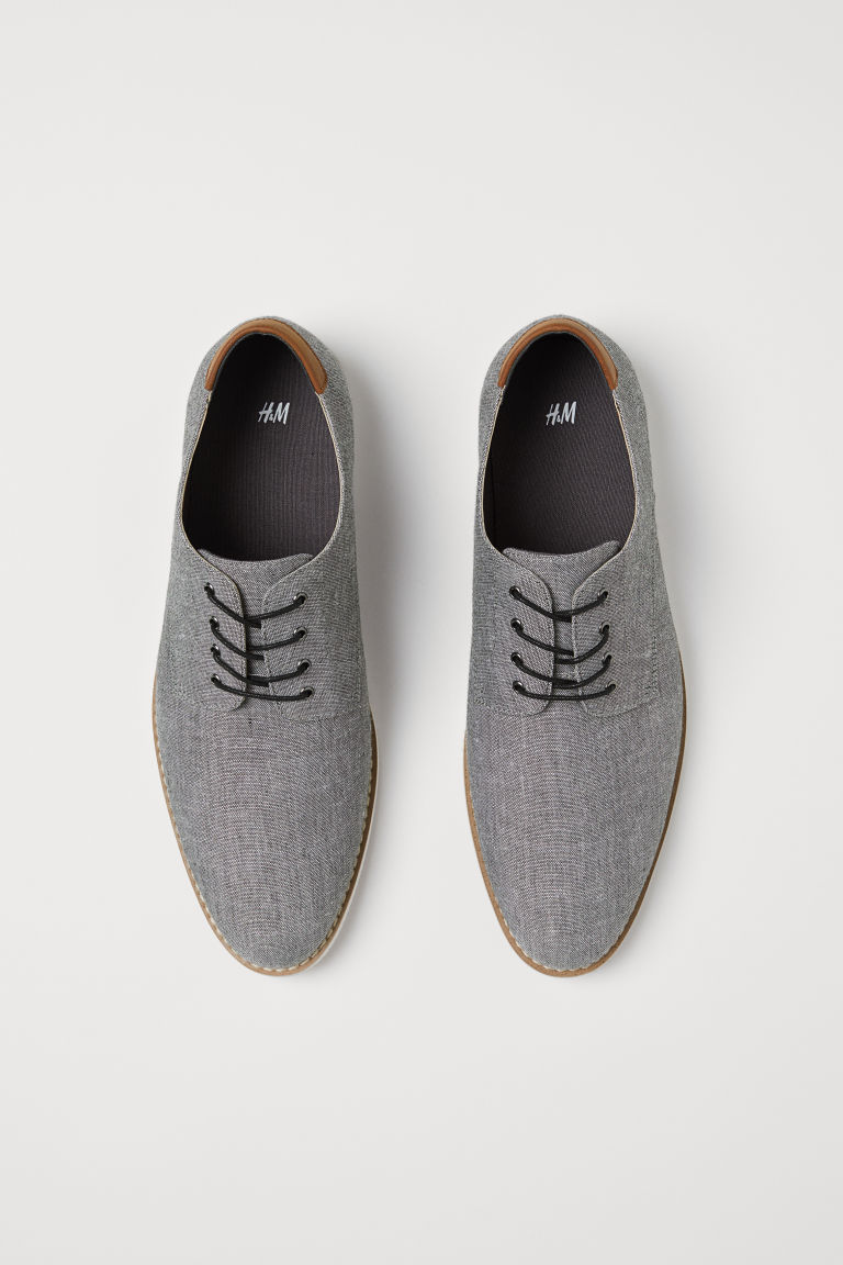 Derby shoes - Grey - Men | H&M IE