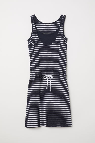 MAMA Nursing dress - Dark blue/Striped - Ladies | H&M