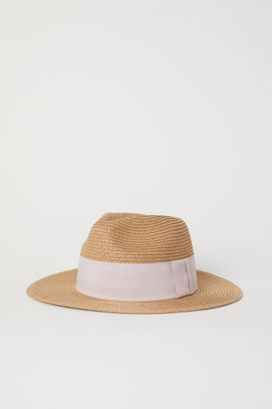 Straw hat - Natural/Light purple - Ladies | H&M CN