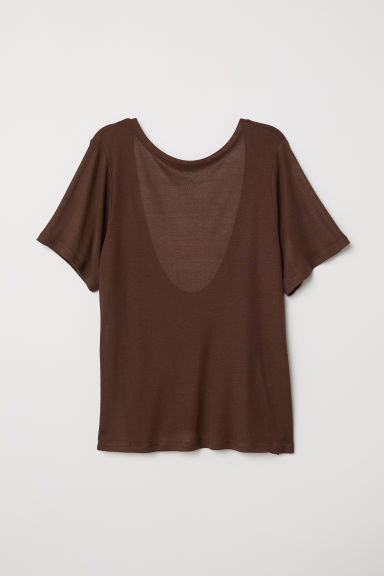Top with a low-cut back - Brown - Ladies | H&M