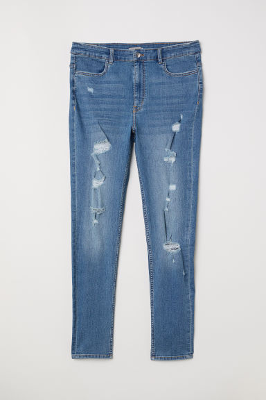 H&M+ Skinny High Waist Jeans - Light denim blue - Ladies | H&M