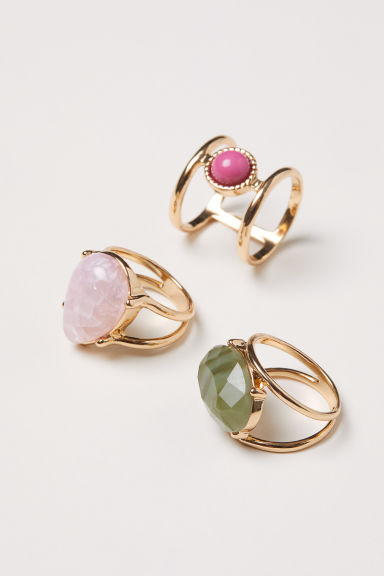 3-pack rings - Gold-coloured - Ladies | H&M CN