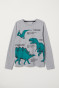 Light grey marl/Dinosaurs