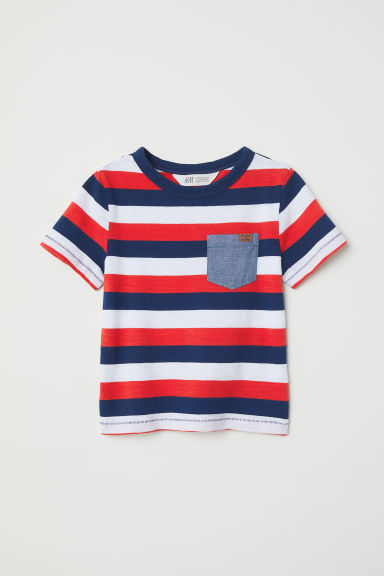 Patterned T-shirt - Red/Striped - Kids | H&M