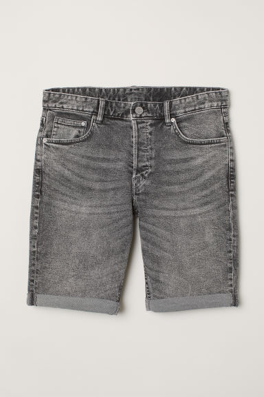 Shorts in denim Slim fit - Grigio - UOMO | H&M IT