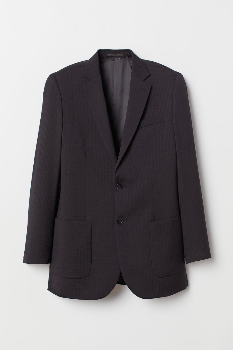 Wool jacket Relaxed Fit - Black -  | H&M