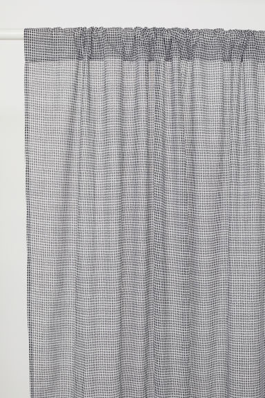 2-pack curtain lengths - Dark grey/Patterned - Home All | H&M CN