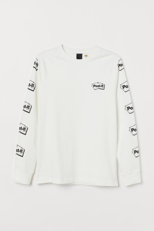Long-sleeved cotton jersey top