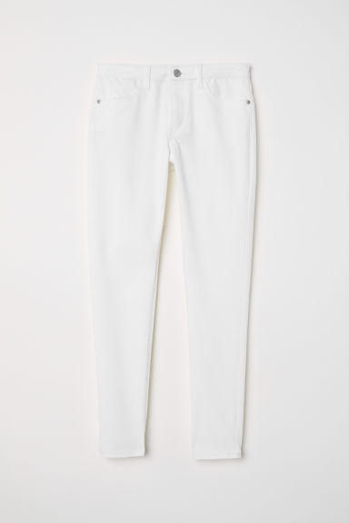 Twill trousers Skinny Fit - White - Kids | H&M CN