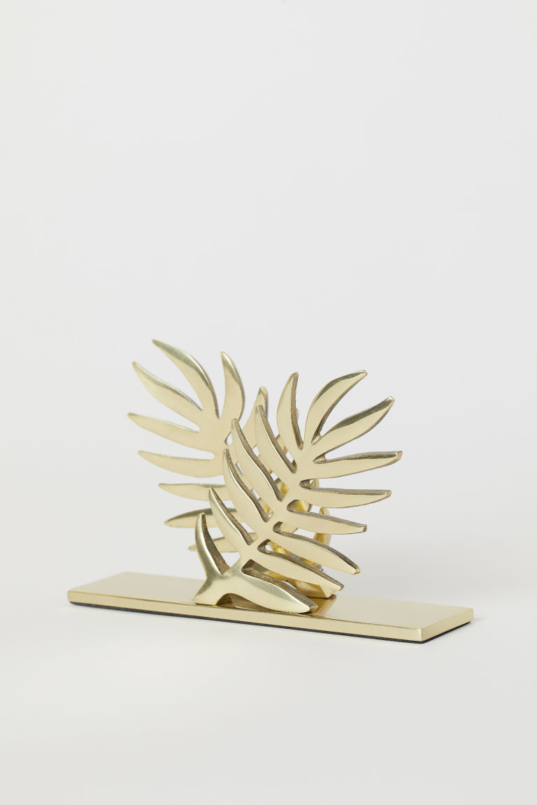 Metal napkin holder - Gold-coloured - Home All | H&M GB