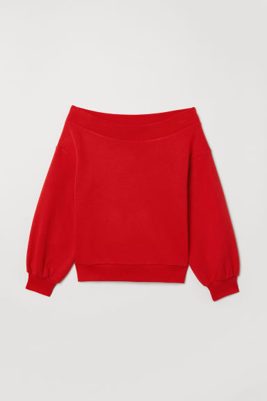 Off-the-shoulder top - Red - Ladies | H&M