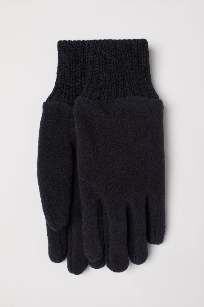 d547b34bb2f Fleece Gloves - Black - Kids   H&M ...