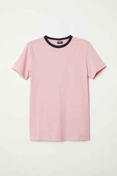 T-shirt Muscle Fit - Pink - Men | H&M