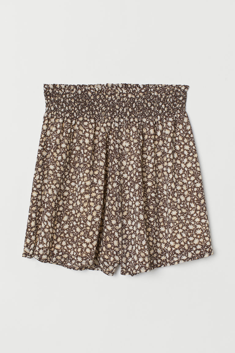 Patterned Shorts - Brown/floral - Ladies | H&M US