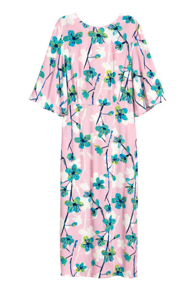 Crêpe dress - Light pink/Floral - Ladies | H&M IE