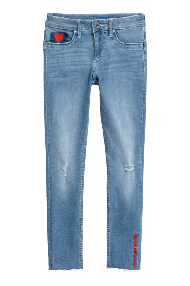 Superstretch Skinny Fit Jeans - Light denim blue/Heart - Kids | H&M CN