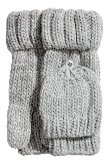 Mittens/fingerless gloves - Grey - Kids | H&M IE
