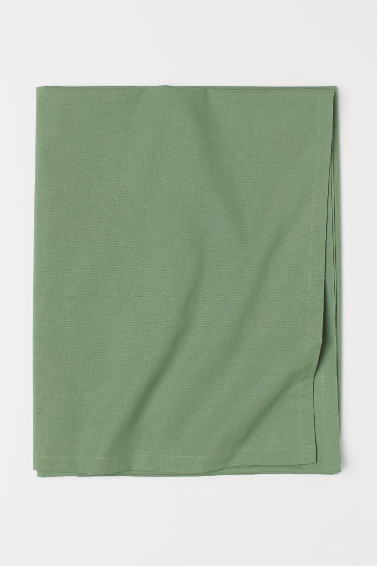 Cotton tablecloth - Green - Home All | H&M CN