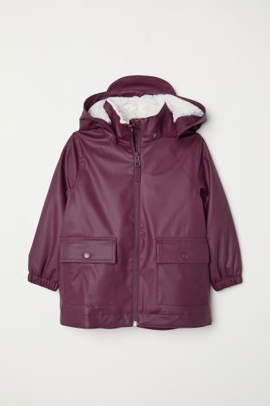 Pile-lined rain jacket - Purple - Kids | H&M
