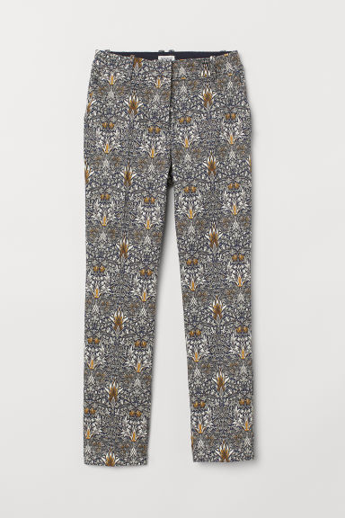 Patterned trousers - Blue/White patterned - Ladies | H&M