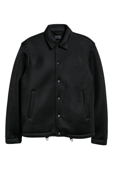 Mesh shirt jacket - Black - Men | H&M