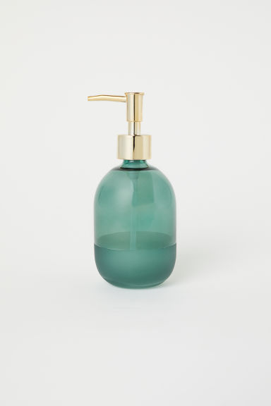 Glass soap dispenser - Dark green -  | H&M CN