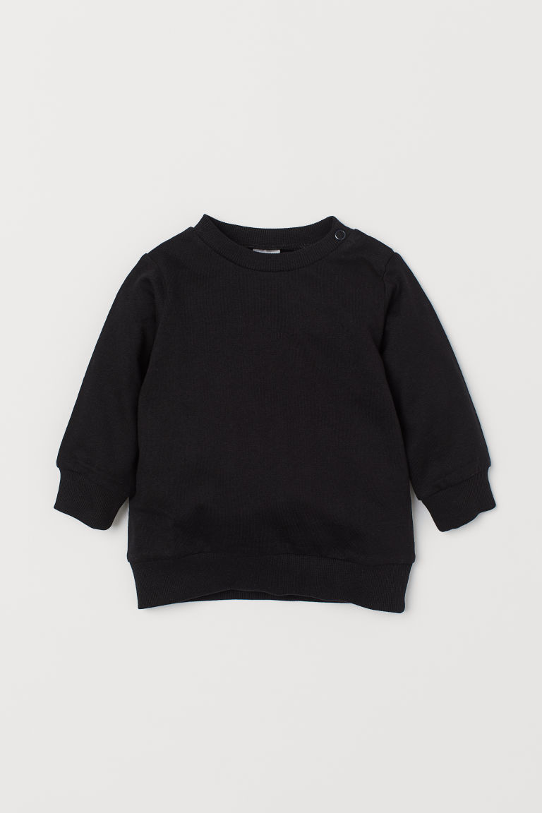 Sweat en coton - Noir -  | H&M FR