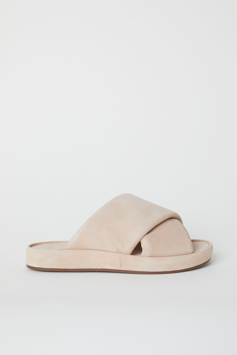 Leather sandals - Beige - MUJER | H&M ES