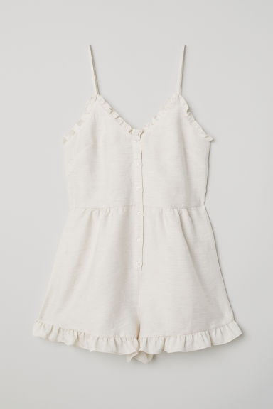 Playsuit with frills - Light beige - Ladies | H&M