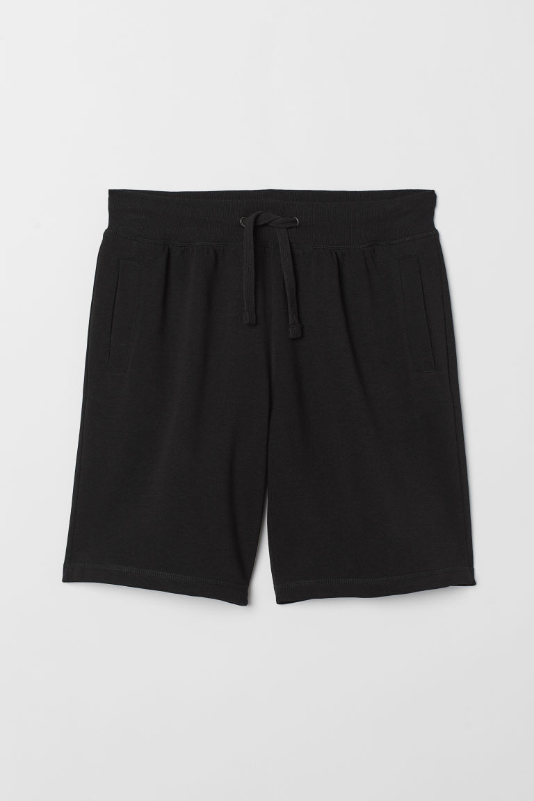 Sweatshirt shorts - Black - Men | H&M