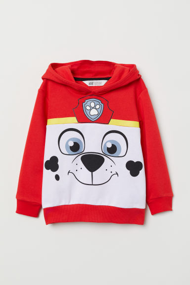 Printed hooded top - Red/Paw Patrol - Kids | H&M
