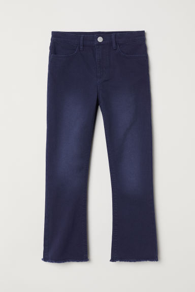 Kickflare trousers - Dark blue - Kids | H&M CN