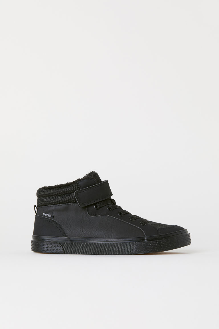 Pile-lined hi-tops - Black -  | H&M
