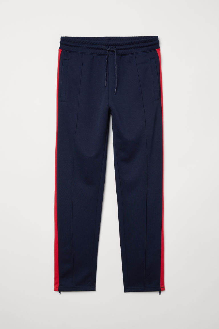 Sports trousers - Dark blue/Red -  | H&M CN