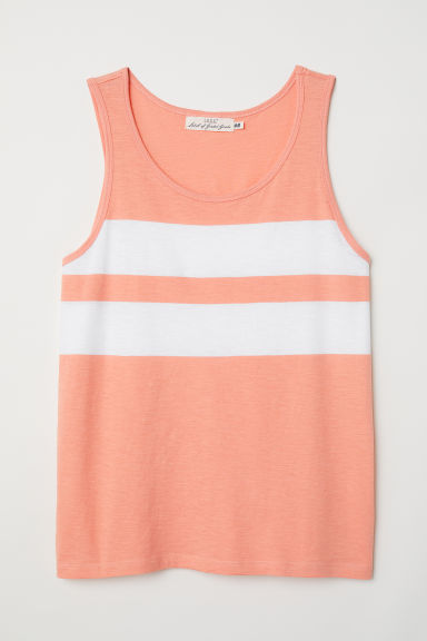 Vest top - Orange/White - Men | H&M